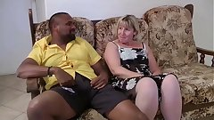Angelina a mature blonde fucked by a black