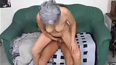 Grey hair granny takes rough anal