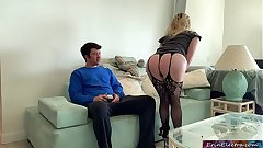 Stepmom fucks stepson to get back at his dad for cheating