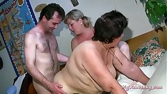old slut gets fingered and eaten by a chubby blonde