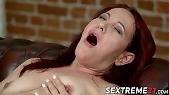 Granny White-hot Mary earns facial charges riding hard learn of