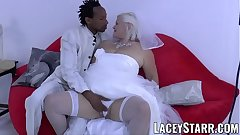 LACEYSTARR - Granny link up fed with cum after BBC pounding