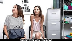 ShopLyfter - Huge Tits Milf and Hot Daughter Give Head Far Avoid Jailtime