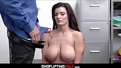 Big Tits Big Ass MILF Shoplifter Becky Bandini Makes Make the beast with two backs Deal With Officer
