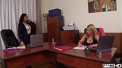 Brunette goddess Off pat Michova & Kyra Hot suck their tits by way of cock ride
