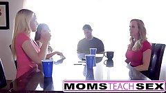 MomsTeachSex - Hot Female parent & Teen Friends Orgy Fuck With Neighbor