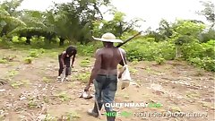 QUEENMARY9JA- African hunter fucked put emphasize King's daughter for a bush meat