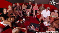 real german swinger party down young couple
