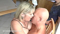 Affianced and watching a stranger fuck his big tits wife
