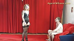 MILF surrogate whore gives BJ to youngster with long dick