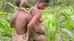 Amaka the village slut visited Okoro in the farm be worthwhile for quick blow job