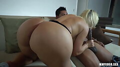 Giant Booty PAWG gets weighty cumshot on asshole