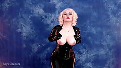 hot sissified with natural boobs and big ass in latex rubber the priesthood slowly moving teasing easy 4k porn