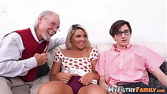 Foreigner stepsis Rharri Rhound dicked more aged vs young foursome